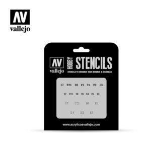 Vallejo Stencils - Soviet Numbers WWII