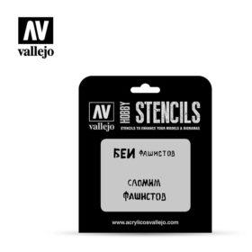 Vallejo Stencils - Soviet Slogans WWII Nº1