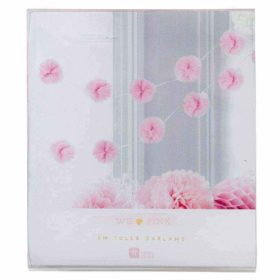 We Love Pink - tulle garland 3m