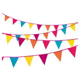 Decadent Decs - fabric bunting fiesta