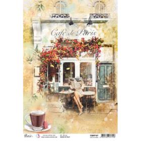 Ciao Bella Rice Paper A4 - café de Paris