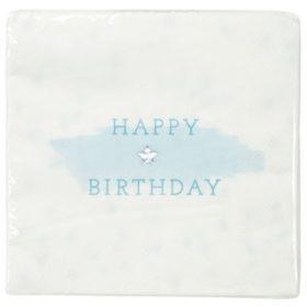 We Love Pink - napkin happy birthday blue